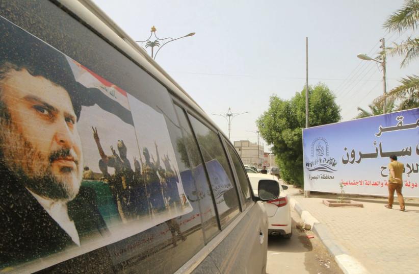 MOQTADA AL-SADR has won the largest number of seats in Iraq's parliament. (photo credit: REUTERS)