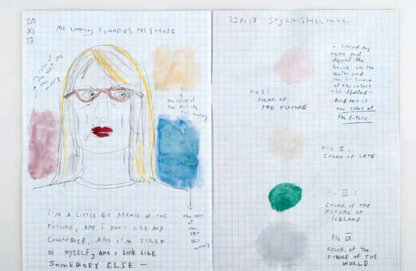 "KRISTIN OMARSDOTTIR featured at Holon's My Dear Diary"" exhibition  (photo credit: DOV SHECHTER)"