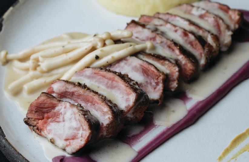 A dish at Aria restaurant (photo credit: Courtesy)