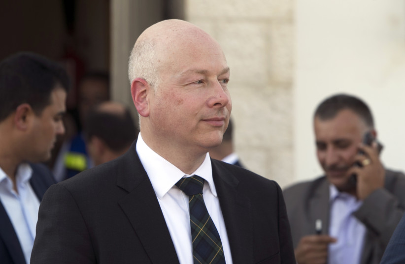 Jason Greenblatt, US President Donald Trump's Middle East envoy. (photo credit: JAAFAR ASHTIYEH / AFP)