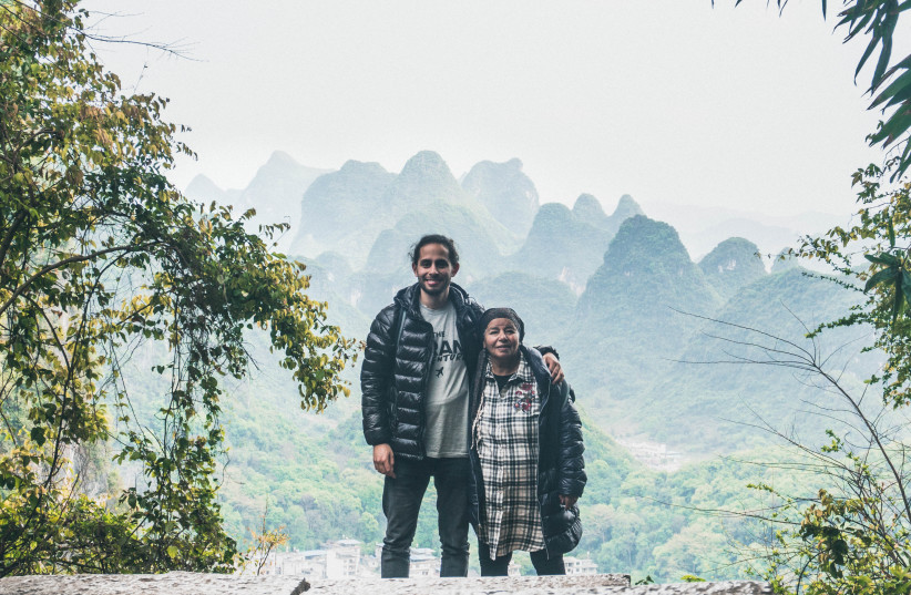 Grandson and grandmother Nathanel Creson and Edna Nahari in Yangshuo, China (photo credit: COURTESY NATHANEL CRESON)