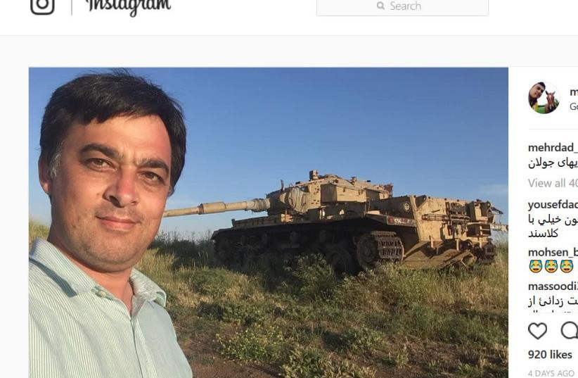 Mehrdad Farahmand in Israel, Instagram, May 16, 2018 (photo credit: INSTAGRAM/MEHRDAD FARAHMAND)