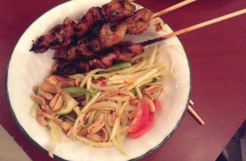 A dish at Thai on Har Sinai restaurant (photo credit: BUZZY GORDON)