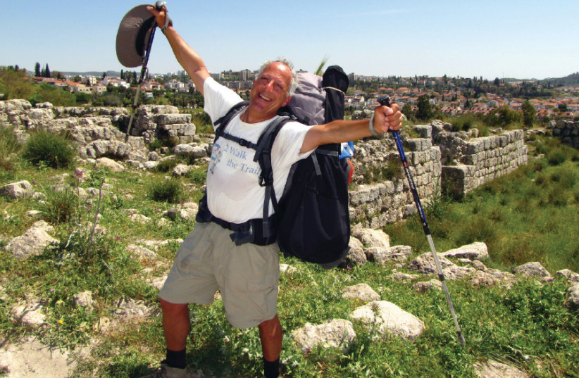 FOR EIGHT weeks the author, Aryeh Green, walked across the State of Israel, rain or shine. (photo credit: ARYEH GREEN)