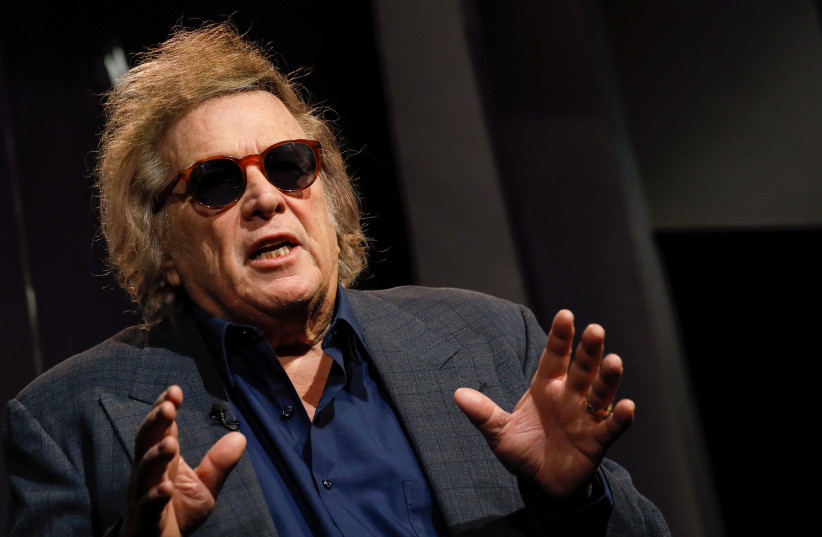 Singer Don McLean speaks during an interview in New York, March 23, 2018 (photo credit: BRENDAN MCDERMID/REUTERS)