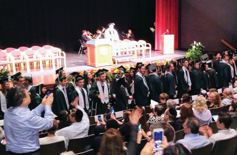 Jewish students from Binghamton University graduate at a special ceremony last week (photo credit: Courtesy)