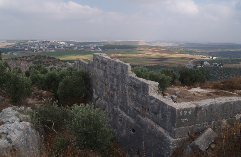 The archaeological site near Peduel, a settlement in the West Bank, May 27th, 2018. (photo credit: COGAT SPOKESMAN)
