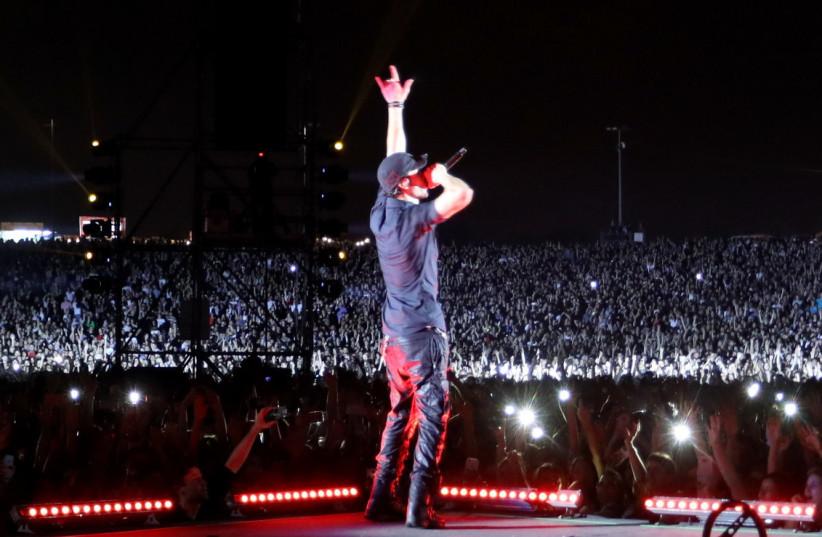 Enrique Iglesias in Tel Aviv, May 27, 2018 (photo credit: SIVAN FARAG)