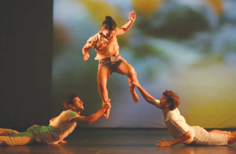 Dancing at the Seminar Hakibutzim in Tel Aviv (photo credit: OREN MANSURA)