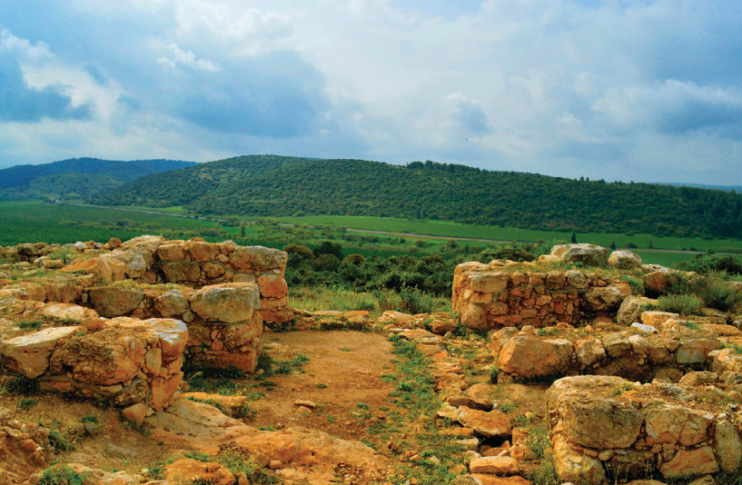 At the newly discovered Khirbet Qeiyafa in the Eila Valley (photo credit: SKYVIEW LTD)