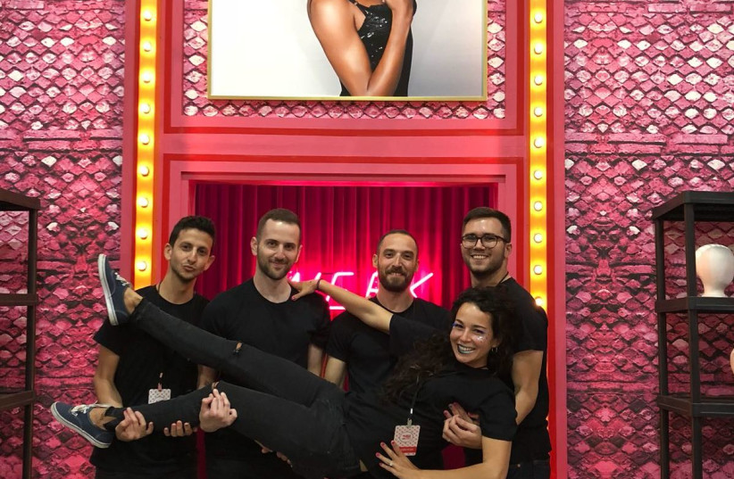 """The Facetune team in the RuPaul's dragrace """"werk"""" room (photo credit: COURTESY LIGHTRICKS)"""