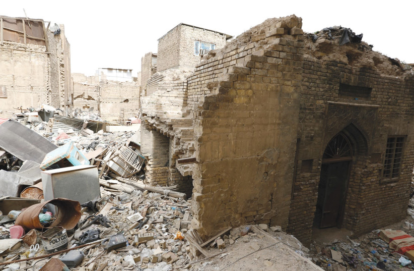 THE REMAINS of a synagogue are seen in the center of Baghdad, Iraq in April 2018 (photo credit: REUTERS)