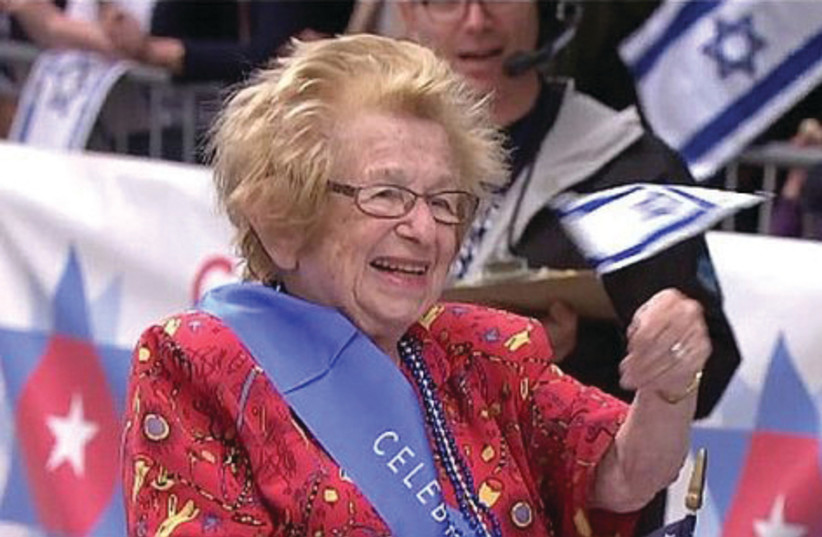 DR. RUTH Westheimer celebrates her 90th birthday at the Celebrate Israel Parade. (photo credit: Courtesy)