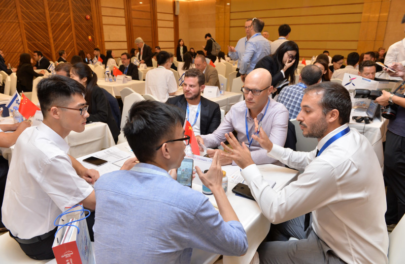 Israeli start-up founders and entrepreneurs met with hundreds of Chinese investors at the GoForIsrael Conference (photo credit: Courtesy)