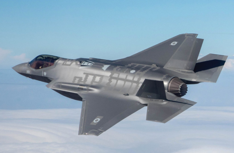 The F-35I Adir on its first flight with the Israel Air Force in December 2016 (photo credit: Wikimedia Commons)
