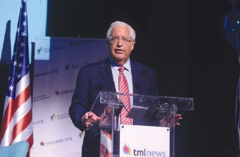 US AMBASSADOR TO Israel David Friedman.  (photo credit: LIOR MIZRACHI)