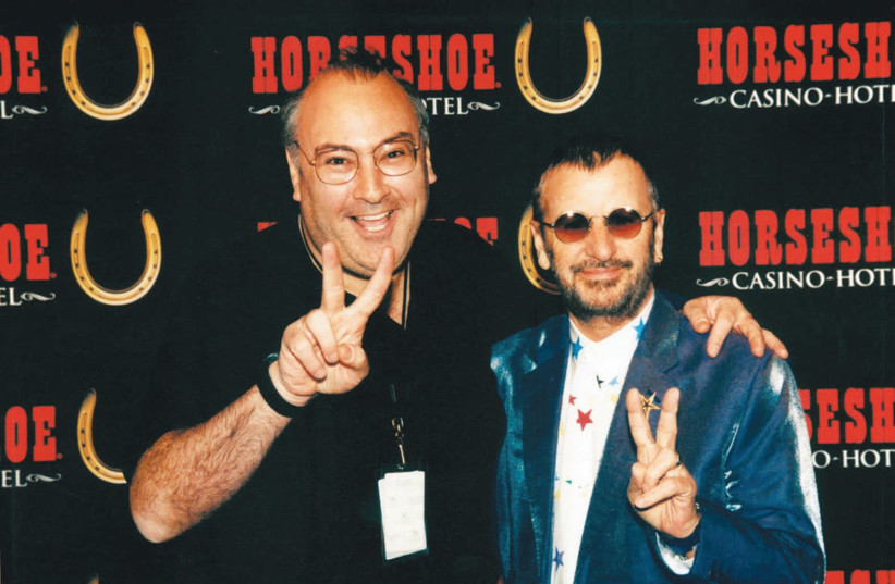 David Fishof on the road in the 1990s with Ringo Starr (photo credit: Courtesy)