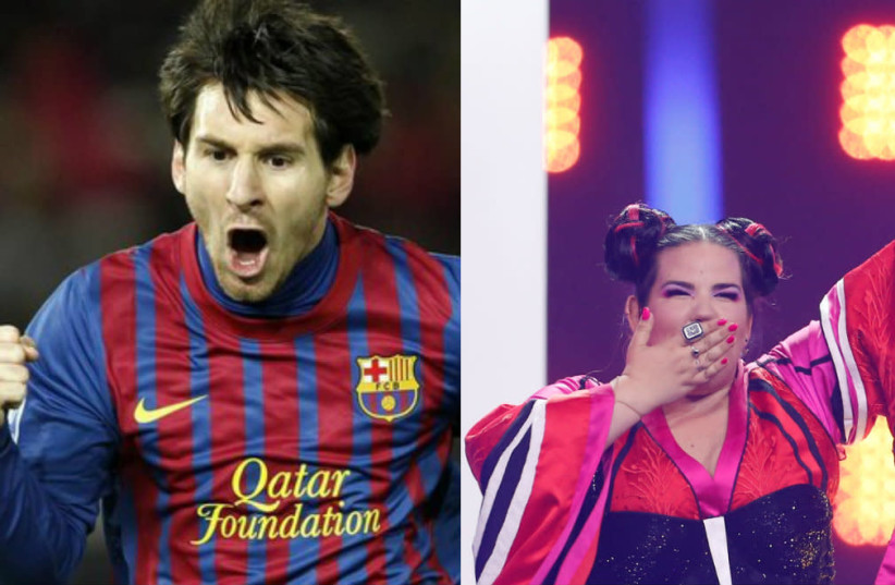 Lionel Messi and Netta Barzilai (photo credit: REUTERS)