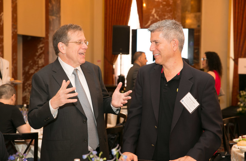Mark Tykocinski (left), provost and executive vice president of academic affairs at Jefferson with Alexander R. Vaccaro, Richard H. Rothman Professor and Chair in Orthopedic Surgery at Jefferson (photo credit: COURTESY THOMAS JEFFERSON UNIVERSITY)