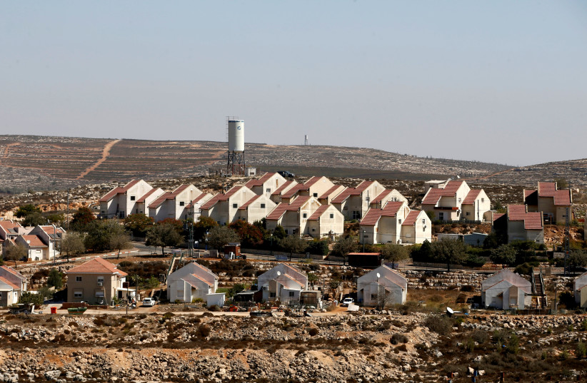 FILE PHOTO: General view shows houses in Shvut Rachel, a West Bank Jewish settlement located close to the Jewish settlement of Shilo, near Ramallah October 6, 2016 (photo credit: REUTERS/BAZ RATNER)