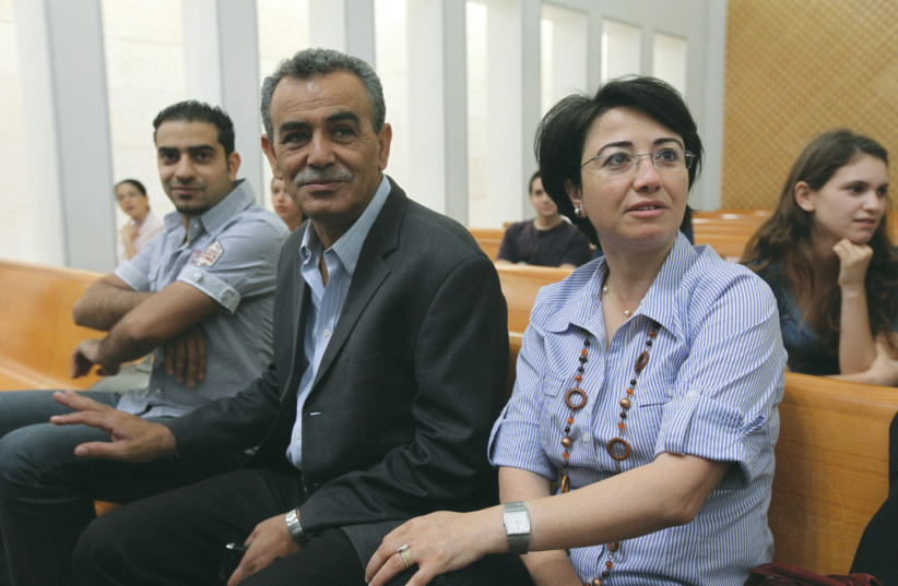 JAMAL ZAHALKA and Haneen Zoabi (photo credit: MARC ISRAEL SELLEM/THE JERUSALEM POST)