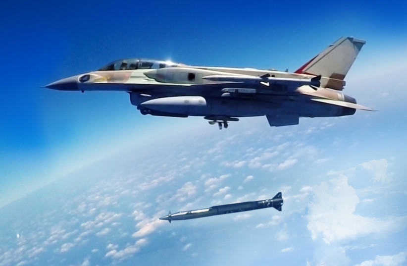 Rampage missile fired from a fighter jet (photo credit: IAI)