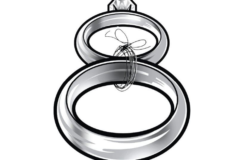 Illustrative photo of marriage rings (photo credit: TNS)