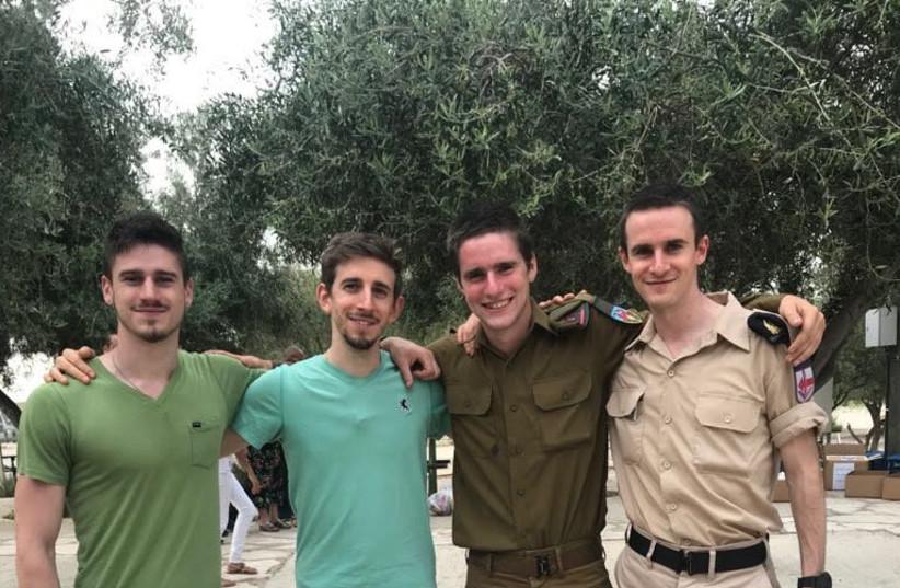 Simon Zauber and his brothers at his swearing-in ceremony  (photo credit: SIMON ZAUBER)