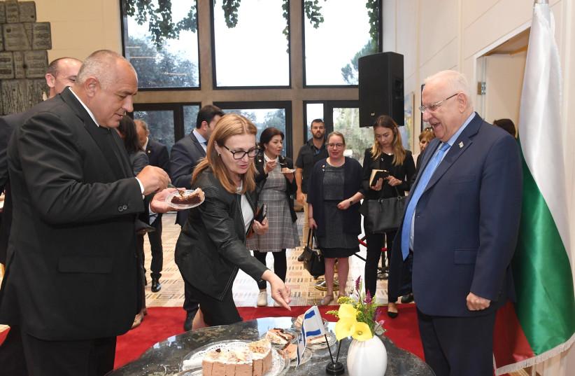 President Reuven Rivlin meets with Bulgarian prime minister Boyko Borisov in Jerusalem on Wednesday, June 13, 2018 (photo credit: MARC NEYMAN/GPO)