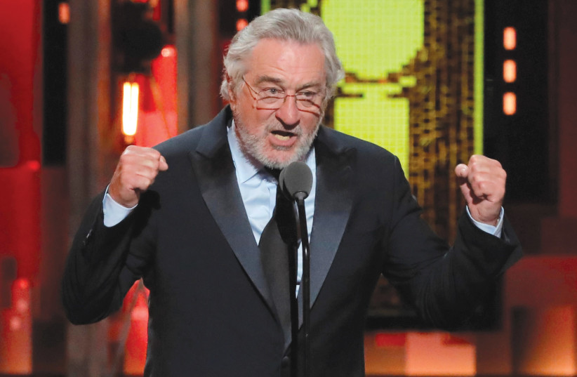 ACTOR ROBERT DE NIRO goes on the attack against US President Donald Trump at this week's Tony Awards ceremony in New York. (photo credit: LUCAS JACKSON / REUTERS)