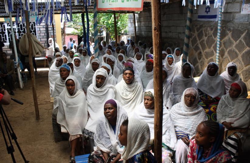 Members of the Falash Mura community in Ethiopia (photo credit: JEREMY SHARON)