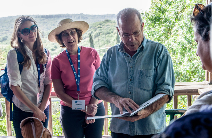 PJ Library authors meet Israeli author Meir Shalev, whose books have been translated into 26 languages. (photo credit: DANIELLE MEHLER)