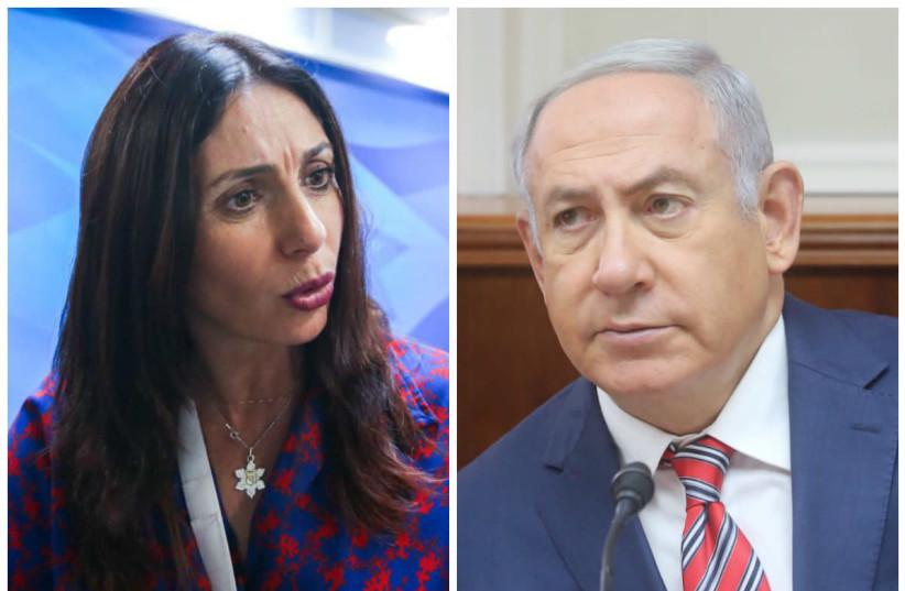 Culture Minister Miri Reveg (L) and Prime Minister Benjamin Netanyahu (R) (photo credit: MARC ISRAEL SELLEM)