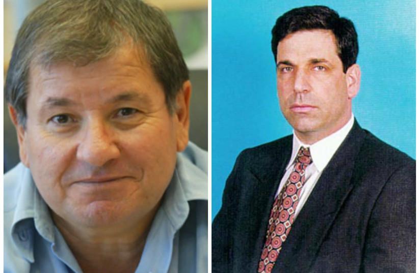 Former MKs Pini Badash (L) and Gonen Segev (R) (photo credit: KNESSET)