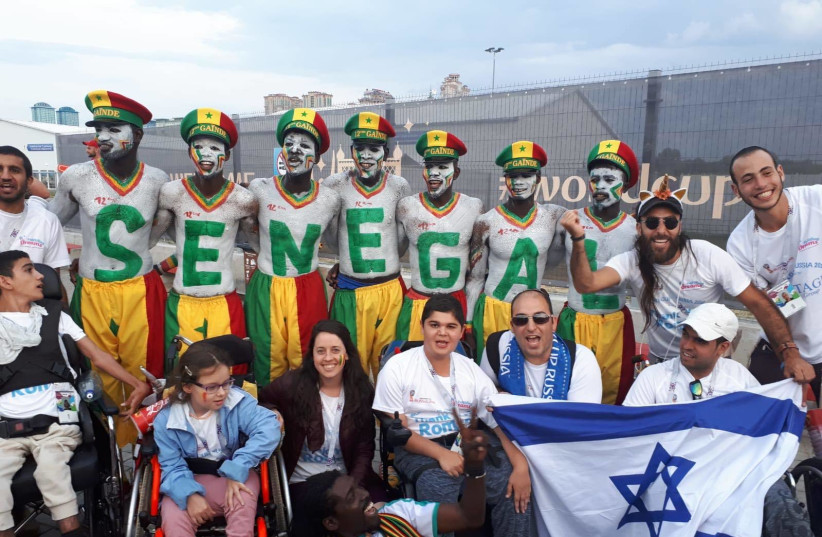 A group of 35 Israeli children with special needs or illnesses  - organized by the NGO Fulfilling Dreams - arrived in Moscow on Sunday ready to take in some of the most buzzed-about games of the tournament, June 21, 2018. (photo credit: FULFILLING DREAMS)