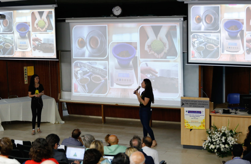 One of the speakers at the food technology conference at the Robert H. Smith Faculty of Agriculture at Hebrew University in Rehovot (photo credit: ROBERT H. SMITH FACULTY OF AGRICULTURE)