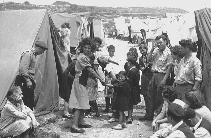 Jewish refugees from Muslim countries  in Israel  (photo credit: screenshot)