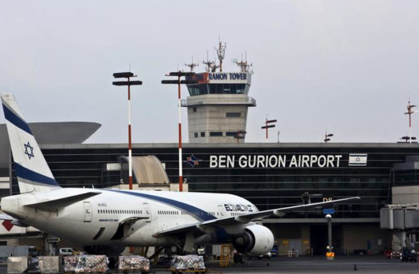 An El Al plane in Ben Gurion Airport (photo credit: REUTERS)
