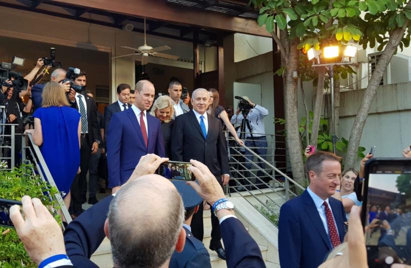 Prince William arrives at British Embassy in Ramat Gan (photo credit: YANIR COZIN / MAARIV)