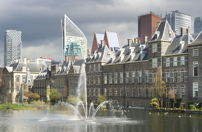 A general view shows the House of Parliament, where a debate about the government's resignation caused by a crisis over budget cuts is taking place, in The Hague April 24, 2012. (photo credit: REUTERS/PAUL VREEKER/UNITED PHOTOS)