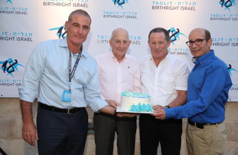 From left: Gidi Mark, Charles Bronfman, Meir Shamir and Gil Troy (photo credit: YOSSI GAMZU)