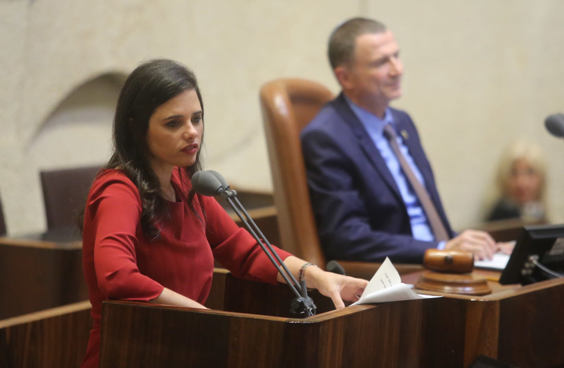 Minister of Justice Ayelet Shaked (photo credit: MARC ISRAEL SELLEM/THE JERUSALEM POST)