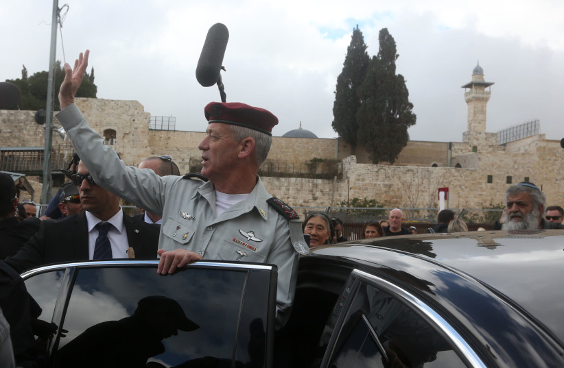 Former IDF chief of staff Benny Gantz (photo credit: MARC ISRAEL SELLEM/THE JERUSALEM POST)