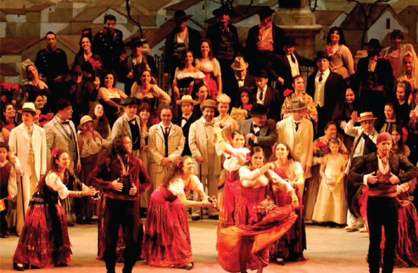 Bizet's Carmen performed at the Israeli Opera  (photo credit: YOSSI ZWECKER)