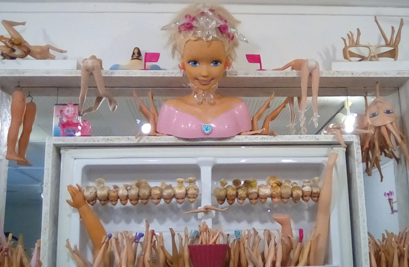 'The Plastic Institute to preserve the Barbie genome' by Gil Riva (photo credit: HAGAY HACOHEN)