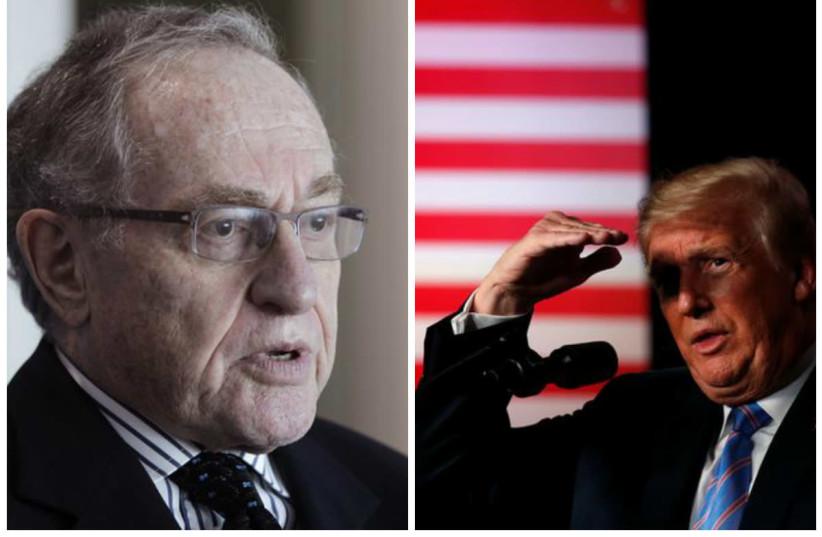 Alan Dershowitz (L) and Donald Trump (R) (photo credit: REUTERS)