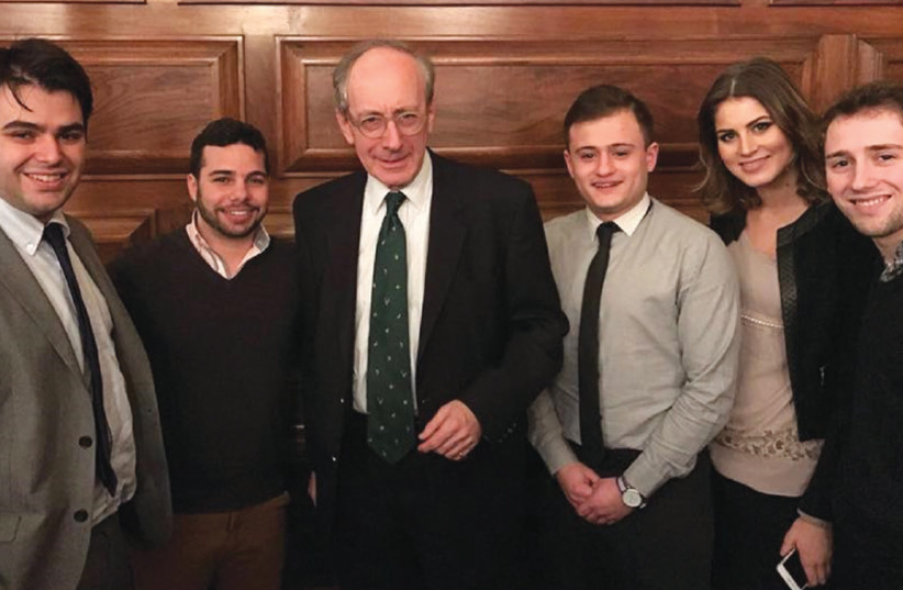 THE PINSKER team (including, from left, Jonathan Hunter and Yoseff Shachor) flanks former UK foreign secretary Sir Malcolm Rifkind (photo credit: PINSKER CENTRE)