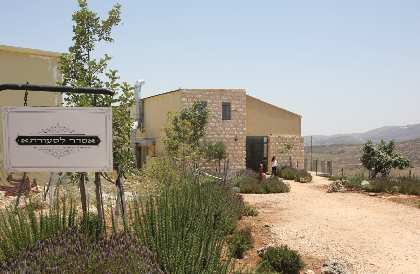 Resturant and winery in the Givat Harel outpost (photo credit: MARC ISRAEL SELLEM/THE JERUSALEM POST)