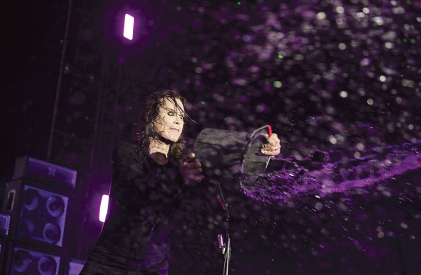 Ozzy Osbourne performs in Rish Lezion on Sunday night, July 10, 2018. (photo credit: ROSS HALFIN)