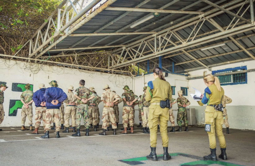 THESE SOLDIERS are being trained to become Military Police correction officers. (photo credit: IDF)